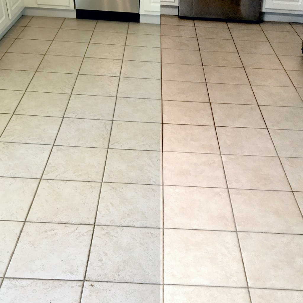 Kitchen Tile Before and After