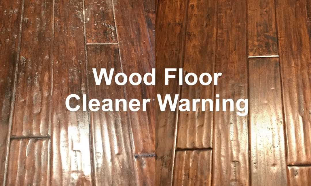 At-Home Wood Floor Cleaner Warning